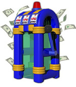 Inflatable Slots Money Blowing Machine