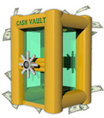 The Vault Inflatable Money Machine